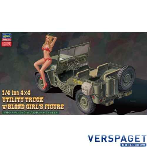 1/4 ton 4x4 Utility Truck w/Blond Girl's Figure -52249