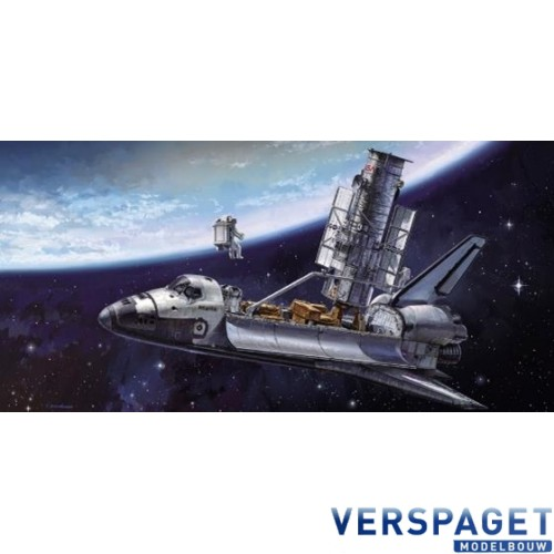 HUBBLE SPACE TELESCOPE & SPACE SHUTTLE ORBITER w/ASTRONAUTS -52255