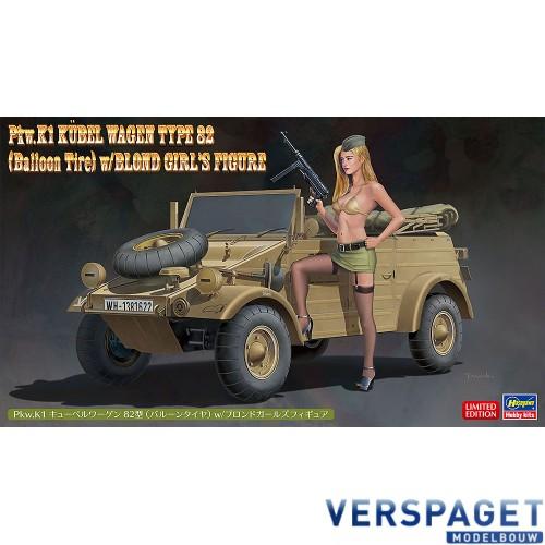 Pkw.K1 Kübelwagen Type 82 (Balloon Tire) w/Blonde Girl's Figure -52273