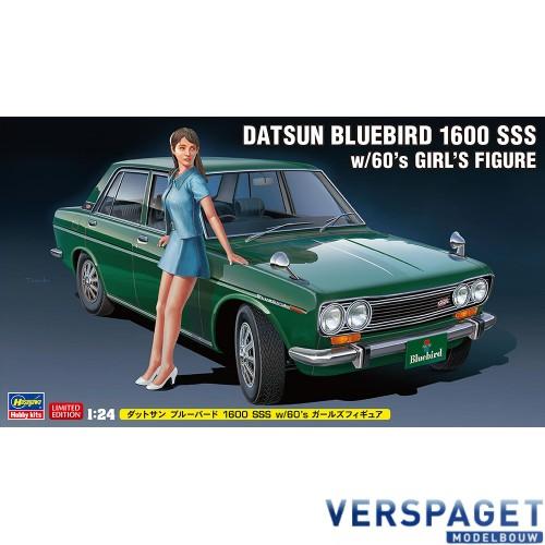 Datsun Bluebird 1600 SSS w/60's Girl's Figure -52277