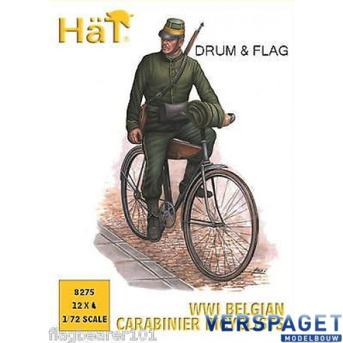 WWI Belgian Carabinier Bicyclists -8275