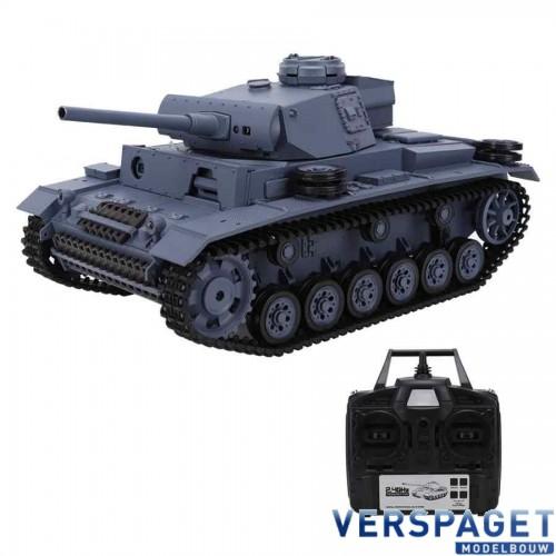 RC Tank 1/16  German Panzer III type L Midium Tank BB en Metal Gear -3848-1UPG