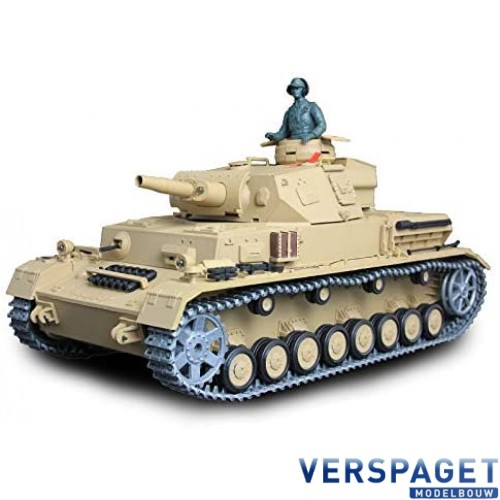 RC Tank 1/16   German Panzer IV (F Type) Medium Tank BB Metal Gear -3858-1UPG