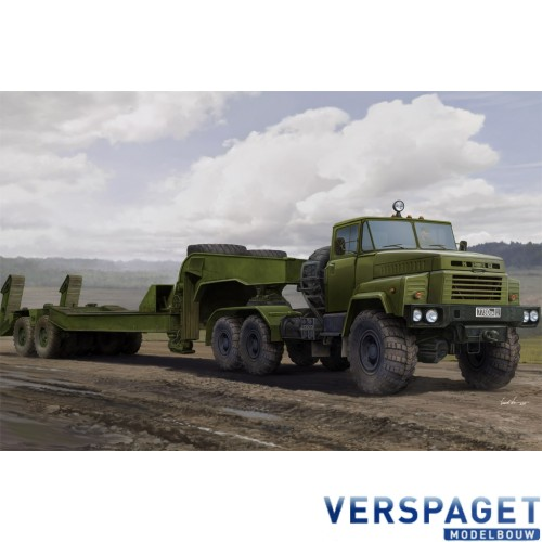 Russian KrAZ-260B Tractor with MAZ/ChMZAP-5247G semitrailer -85523