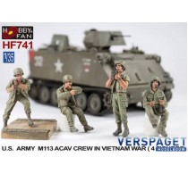 U.S. Army M113 ACAV Crew in Vietnam War 4 Figures  -HF741