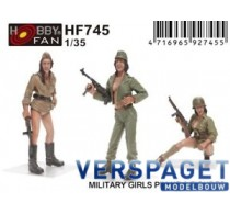 military girls pin-up - 3 figures -HF745