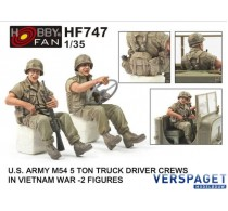 U.S. Army M54 5 Ton Truck Driver Crews In Vietnam War -HF747