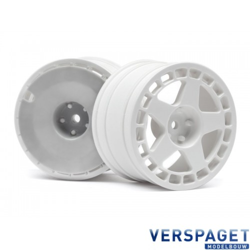 "WR8 RALLY FIFTEEN52 TURBOMAC WHEEL WHITE (2.2""/57X35MM/2PCS) -117413"