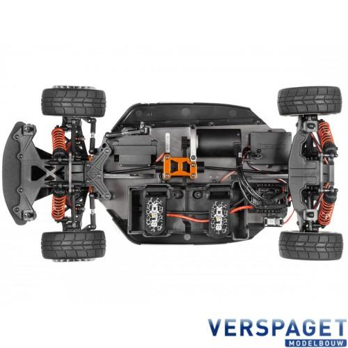 WR8 FLUX Ken Block Gymkhana Ford Fiesta ST RX43 RTR 1/8 4WD Rally Car versie 2019 -120036