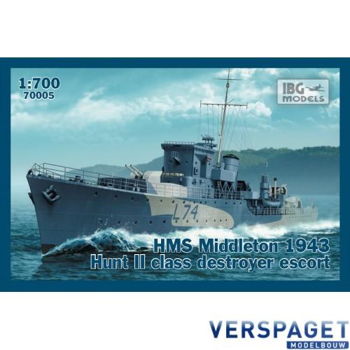 HMS Middleton 1943 Hunt II  class destroyer escort -70005