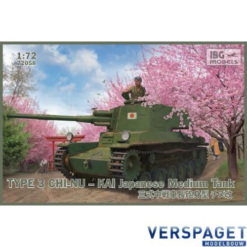 Type 3 Chi-Nu Kai Japanese Medium Tank -72058