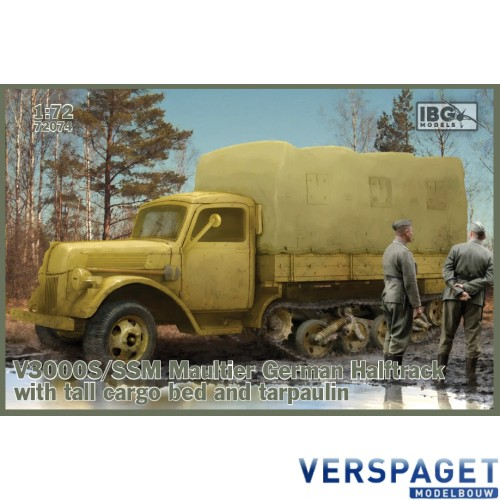 V3000S/SSM Maultier German Halftrack with tall cargo bed and tarpaulin -72074