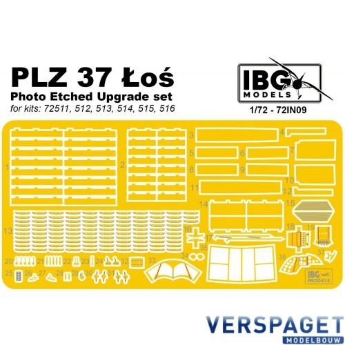 Photo Etched Upgrade set for PZL P.37 -72IN09