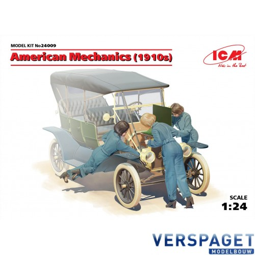 American mechanics 1910s 3 figures -24009