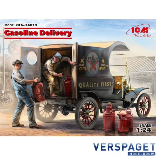 Gasoline Delivery, Model T 1912 Delivery Car with American Gasoline Loaders -24019