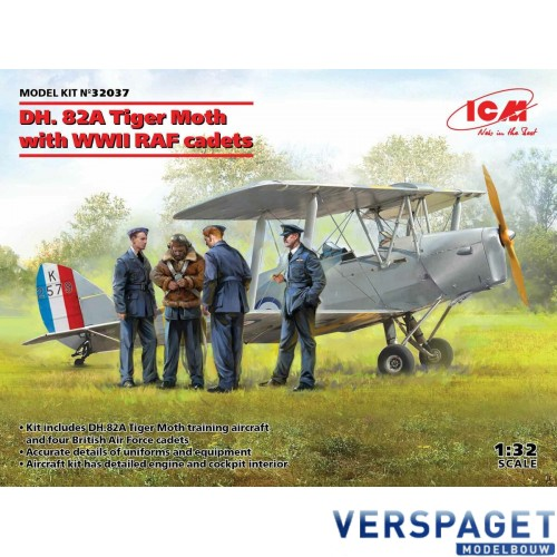DH. 82A Tiger Moth with WWII RAF cadets -32037