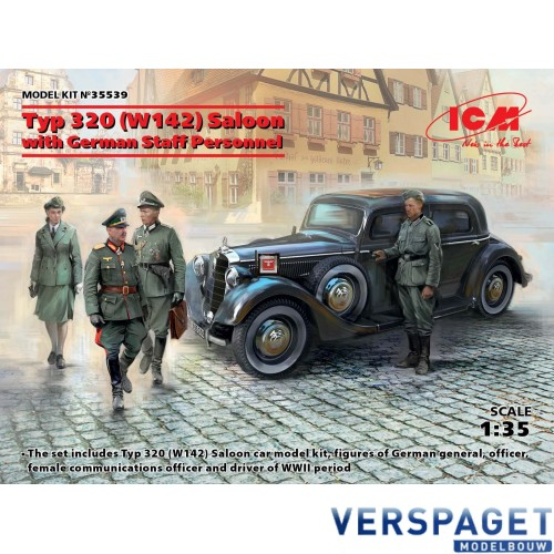 Typ 320 (W142) Saloon with German Staff Personnel -35539