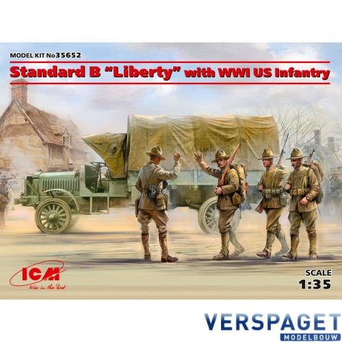 """Standard B """"Liberty"""" with WWI US Infantry -35652"""