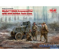 Model T RNAS Armoured Car with WWI British Tank Crew -35670