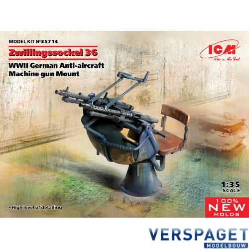 Zwillingssockel 36, WWII German Anti-aircraft Machine gun Mount -35714