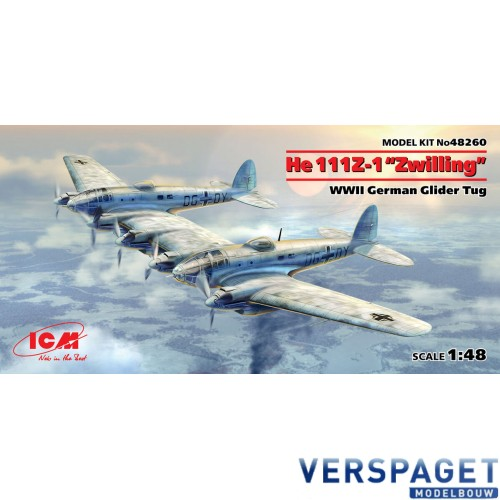 "He 111Z-1 ""Zwilling"" WWII German Glider Tug -48260"