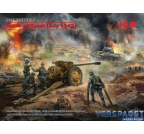 Battle of Kursk July 1943 T-34-76 early 1943, Pak 36r  with Crew 4 figures -DS3505