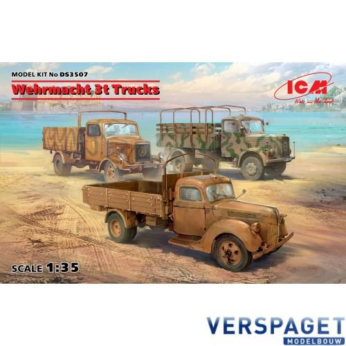 Wehrmacht 3t Trucks V3000S, KHD S3000, L3000S -DS3507