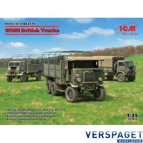 WWII British Trucks Model W.O.T. 6, Model W.O.T. 8, Leyland Retriever General Service -DS3511
