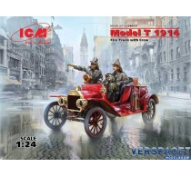 Ford Model T 1914 Fire Truck with Crew -24017