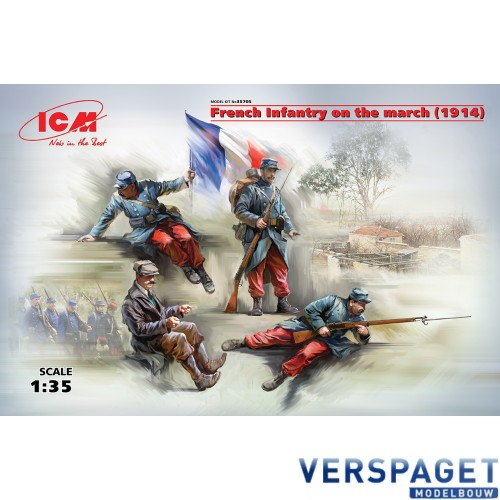 French Infantry on the march (1914) -35705