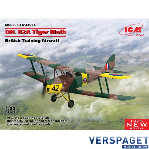 DH. 82A Tiger Moth, British Training Aircraft & Nederlandse Decals  -ICM32035NLD