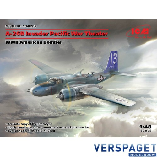 Douglas A-26B Invader Pacific War Theater, WWII American Bomber- 48285