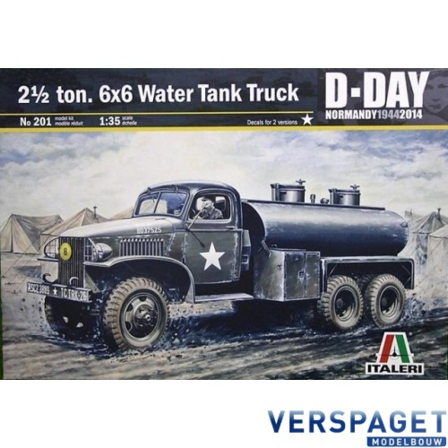 2 ½ Ton, 6x6 Water Tank Truck -201