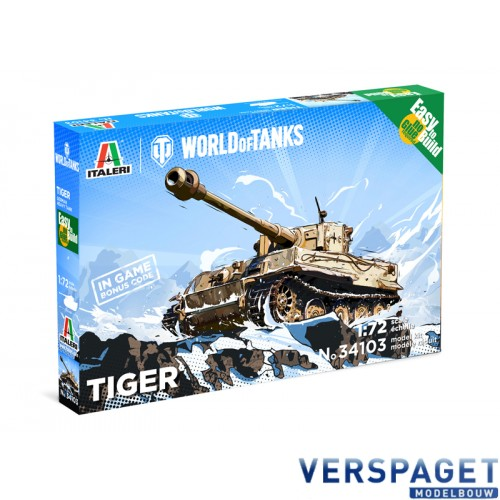Tiger German Heavy Tank - WoT - Easy to Build -35103