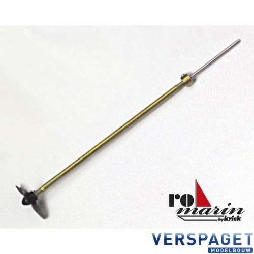 Scheepsas (M2x160mm) & 3 blads scheepsschroef (25 mm)  -RO1452