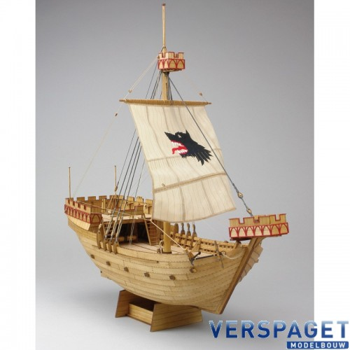 Piretenship Woeste Hond Kogge van1390 Laser-houtbouw 1:72 -24616