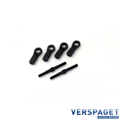 Tie Rod Set Steel/4x40mm -IF288