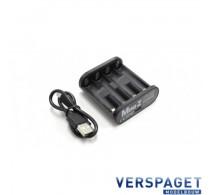 Mini Z Combo Lader & 4 x Triple A  Oplaadbare Batterijen 71998-71999