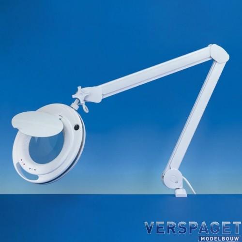 Loeplamp 90 Led & Verwisselende Lens & Verstelbare Arm