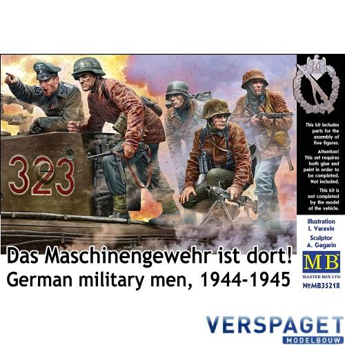 German Military Men 1944-1945 Das Maschinengewehr ist dort -MB35218