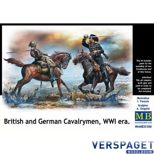 British and German Cavalrymen, WWI era -MB35184