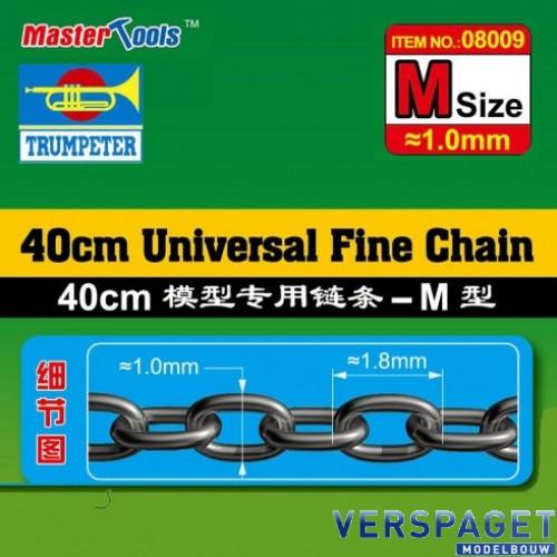 Ketting 40 cm 1 mm / 1,8mm  -08009