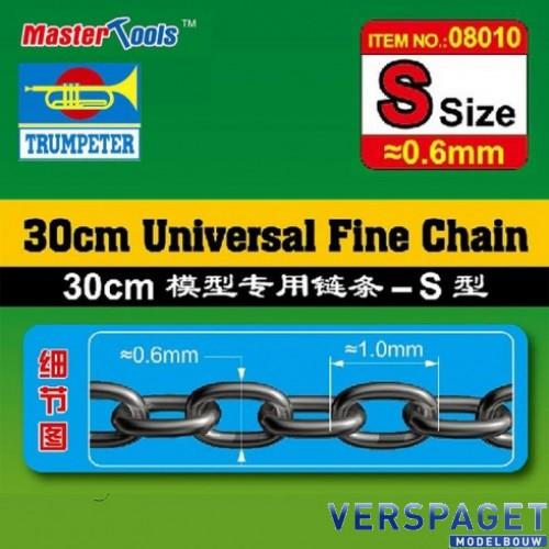 Ketting 30 cm 0,6 mm / 1mm  -08010