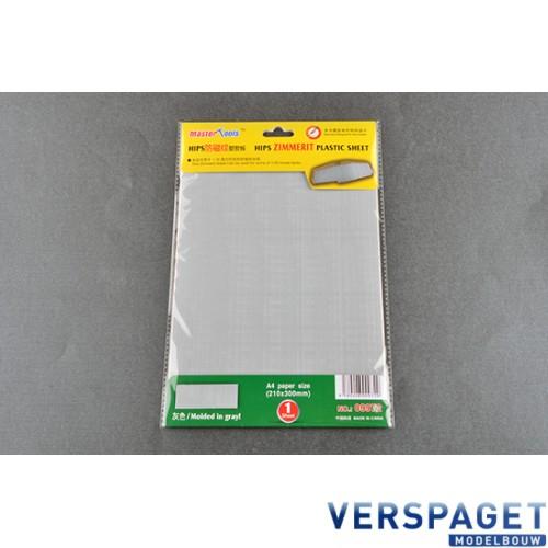 Zimmerit Plastic Sheet A4 -09972