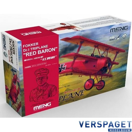 Fokker Dr.I Triplane Red Baron incl. 1:10 bust of Manfred von Richthofen / Limit Edition -QS002S