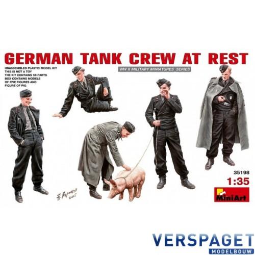 German Tank Crew at Rest -35198