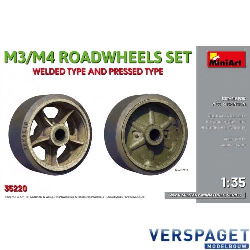 M3/M4 Roadwheels set welded type and pressed type -35220