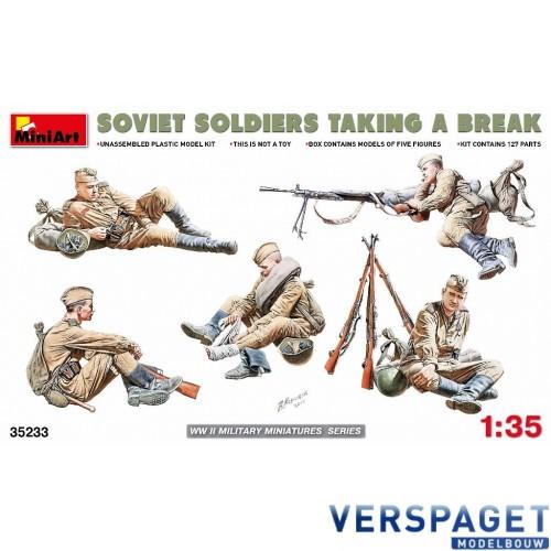 Soviet Soldiers taking a break -35233