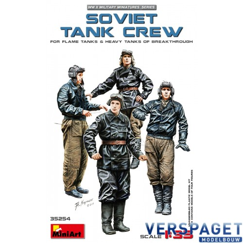 SOVIET TANK CREW (for Flame Tanks & Heavy Tanks of Breakthrough) -35254
