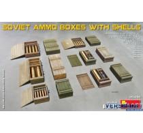 SOVIET AMMO BOXES w/SHELLS -35261